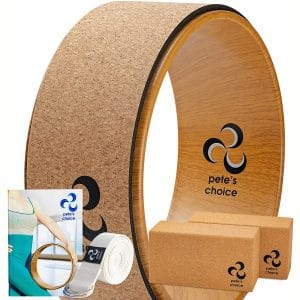 pete's choice Yoga Wheels with Yoga Strap & Exercise Guide | Comfortable & Durable Yoga Balance Accessory | Increase Flexibility