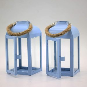 YBDecor 2 Pack Hanging Candle Holders Lantern