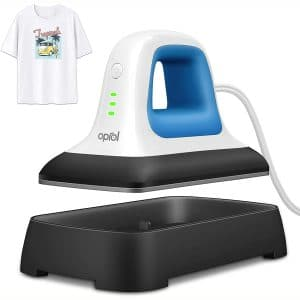 """Oprol Heat Press, 7"""" x 3.8"""" Heat Press Machine for T Shirts Shoes Bags Hats and Small HTV Vinyl Projects, Portable Mini Easy Heat Press Machine for Heating Transfer"""