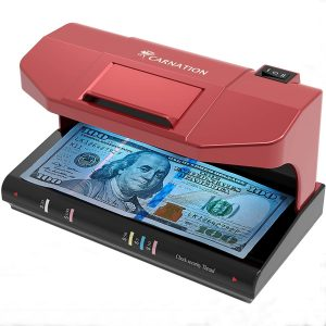 Counterfeit Bill Money Detector Checker with Magnetic and UV Detection + Free Counterfeit Detection Pen
