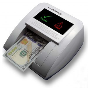 AccuBANKER D470 Quadscan 4-Way Orientation Counterfeit Detector with UV, MG, IR, WM, Image, Length, Spectrum Counterfeit Detection Methods - Optional Battery for Portable Use