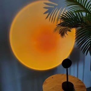 Tibbiden Sunset Projection LED Light Rotation Rainbow