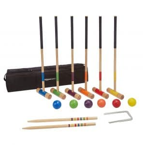 Amazon Basics 6-Player Croquet set with carrying Case