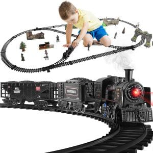 Baby Home Train Set Metal Alloy Train with Sound and Lights
