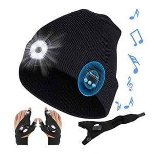 Dourime LED Beanie Hat USB Rechargeable Light and Bluetooth