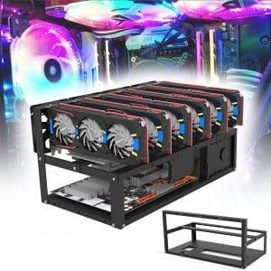 HELOIA Mining Rig Frame 6:8 GPU Steel for Crypto