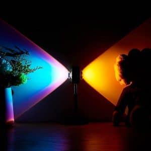 Amuou Sunset Lamp 2 Colors 180 Degrees Rotation Projection
