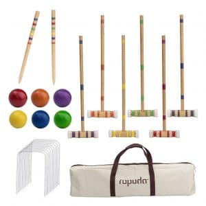 ROPODA Six-Player Lawn, Backyard, Park Croquet Set for Kids and Adults