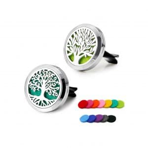 RoyAroma 2 Pieces Car Aromatherapy Oil Diffuser Stainless Steel Lock