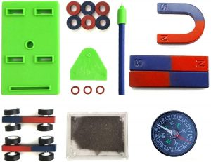 AOMAG Labs Junior Education Science Magnet Set with Horseshoe, Ring, and Compass Magnets