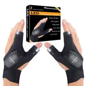 Feeke LED Flashlight Gloves Unique Gadget Tools