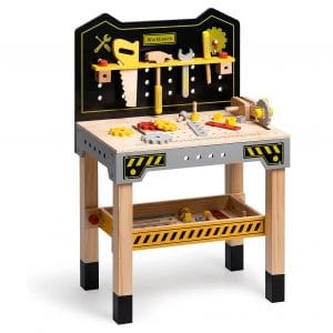 ROBUD Wooden Tool Workbench for Kids
