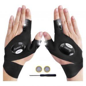 CALMSEN Father's Day Gift LED Flashlight Gloves