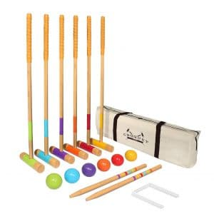 """GoSports Six Player Adults and Kids Croquet Set with Standard (28"""")"""