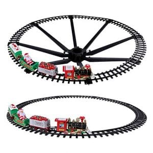 TEMI Christmas Train Toy Set with Lights and Sound