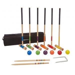 Amazon Basics 6-Player Set Croquet Set with Carrying Case