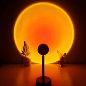 CORATED Sunset Lamp Projector 180-Degrees Rotation LED Night Lamp