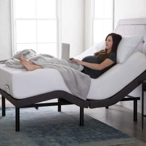 LUCID Bed Base with Dual USB Charging Stations
