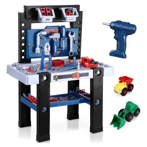 iBaseToy Kids Tool Bench with Storage Space, Gifts for Boys