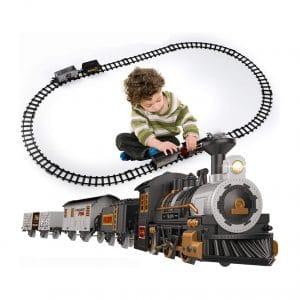 iHaHa Electric Toy Train Set Battery Powered 10 Tracks 3 Cars