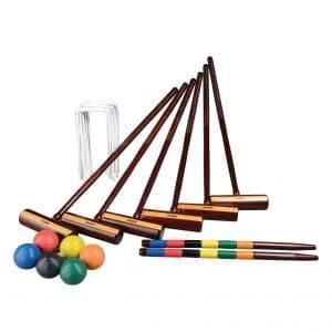 Franklin Sports 6 Player Outdoor Croquet Set Lawn/ Backyard Croquet Set