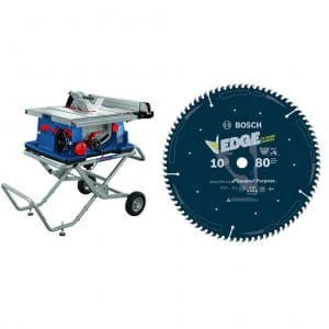 BOSCH 10 Inch Worksite Table 80 Tooth Edge Circular Saw Blade