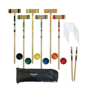 Juegoal Upgrade Six Player Family Croquet Set, 32 Inch
