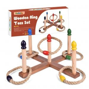 FUN LITTLETOYS Outdoor Ring Toss Game Games