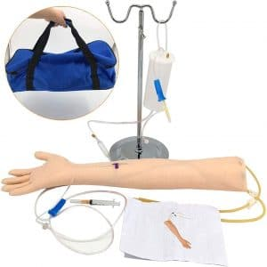 WYRRJ Arm IV Venipuncture and Phlebotomy Practice Model Arm